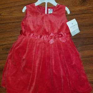NEW W/TAGS CARTERS SIZE 18 MOS SOFT VELVETY DRESS